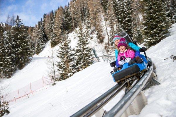 Alpine Coaster Gardonè im Winter