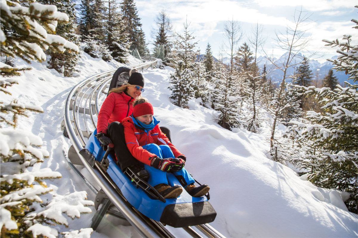 Alpine Coaster Gardonè im Winter