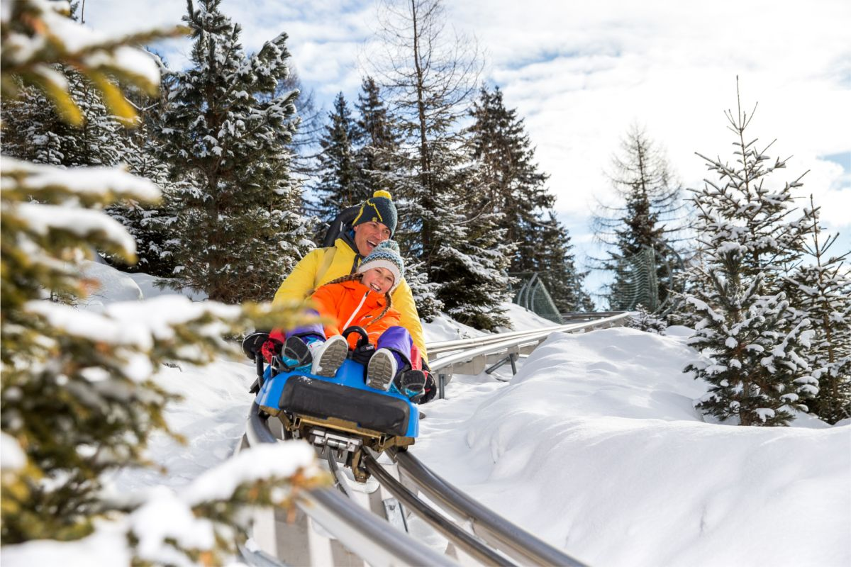 Alpine Coaster Gardonè in winter