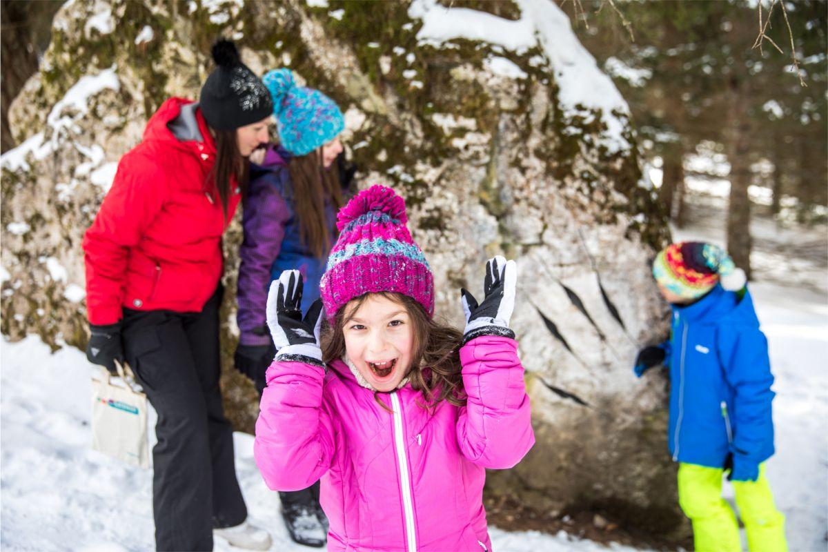 Lernpfade - der Drachenwald im Winter - Predazzo
