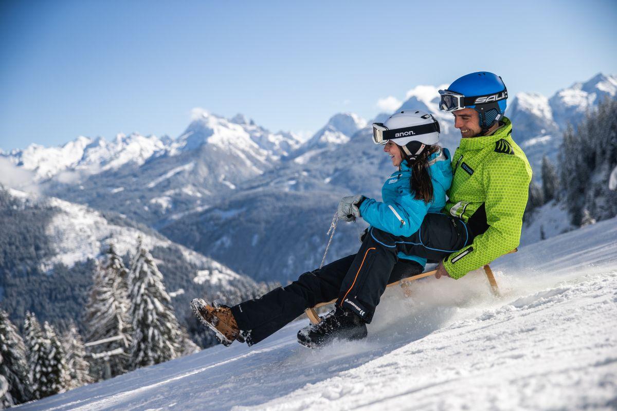 pista slitte-ski center latemar-predazzo-val di fiemme-trentino