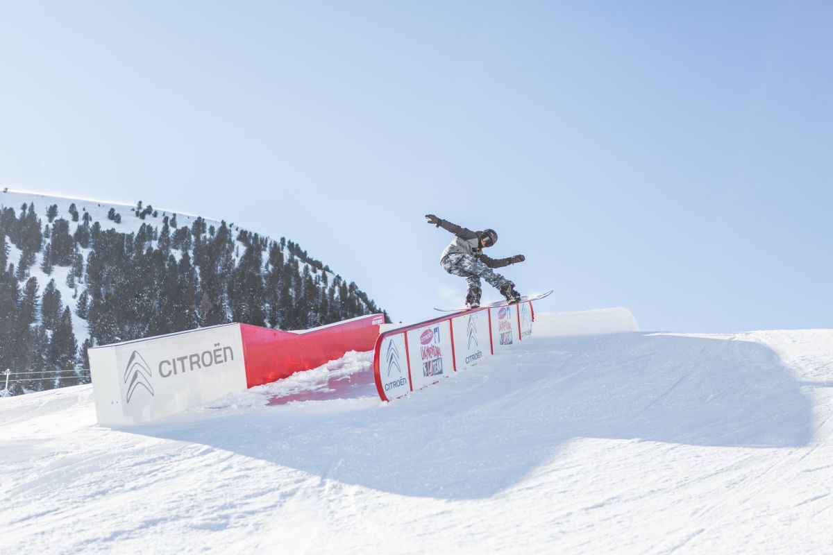 snowpark obereggen nello ski center latemar in trentino alto adige